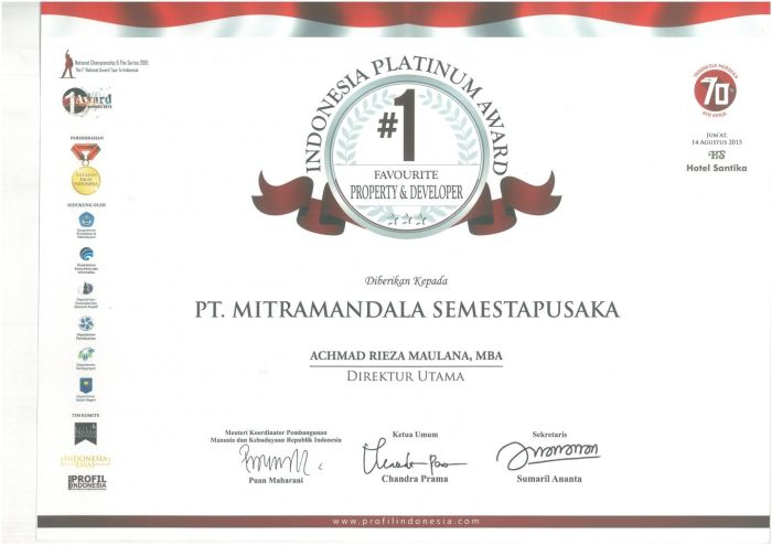 Other Information Indonesia Platinum Award 2015 profil_awards